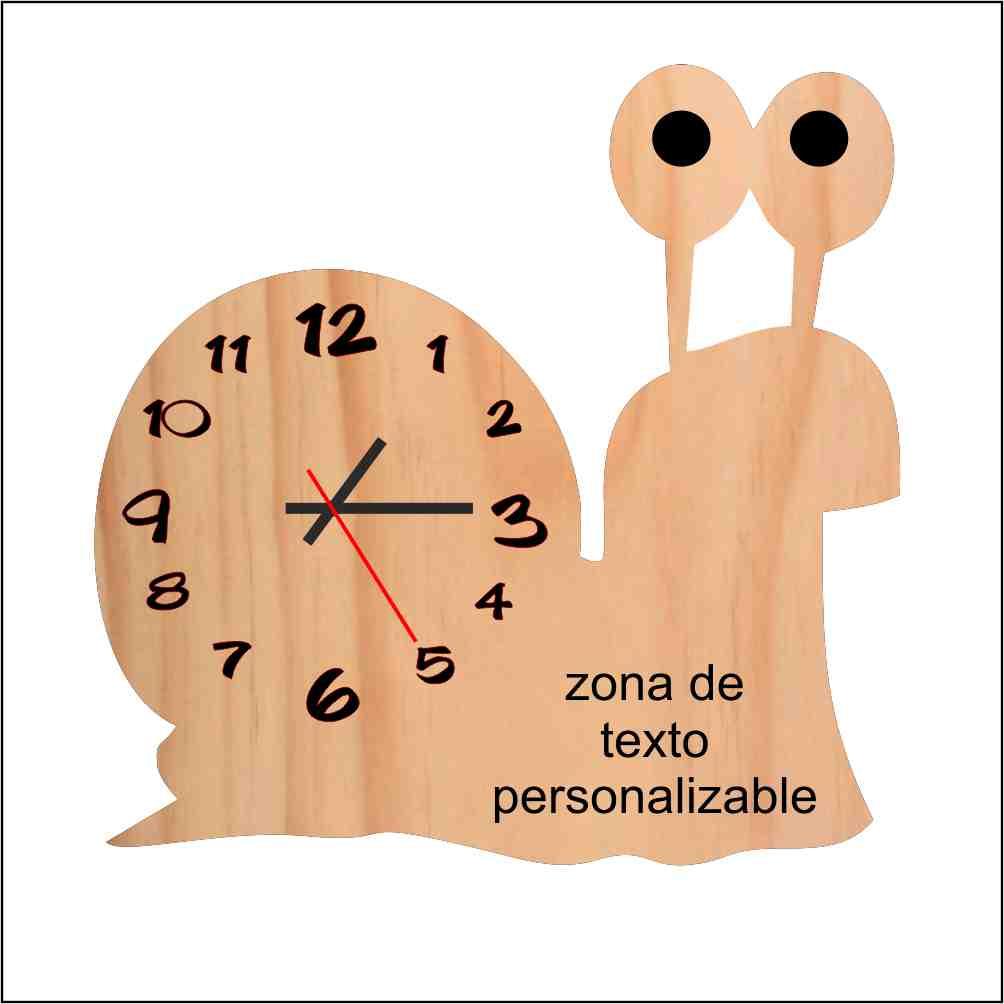 Reloj caracol personalizable
