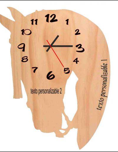 reloj cabeza caballo