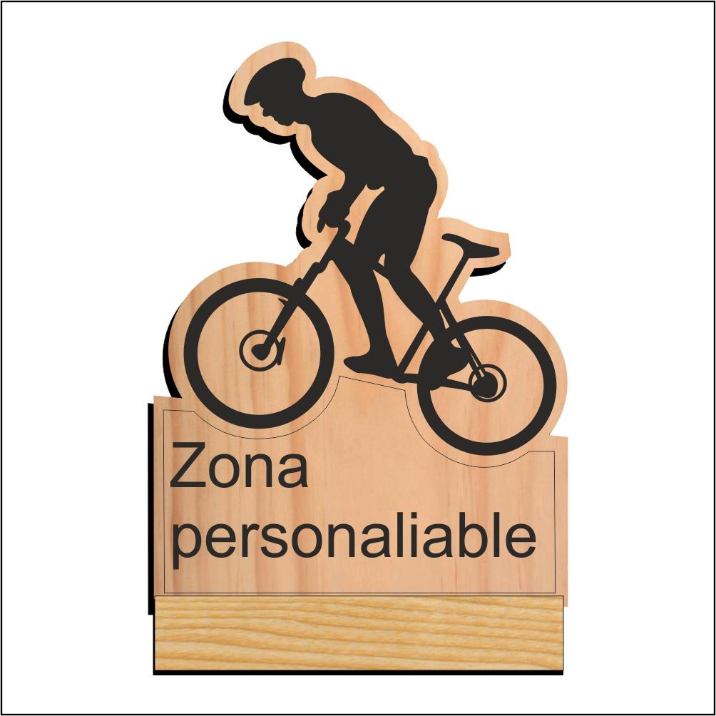 CORREDOR MTB (grabado y con zonas personalizables en peana y zona base de bici