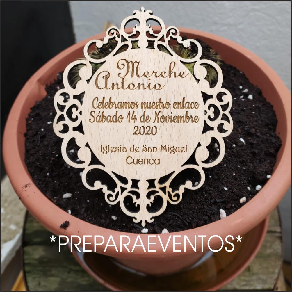 Invitaciones de boda 15x10cm modelo 8