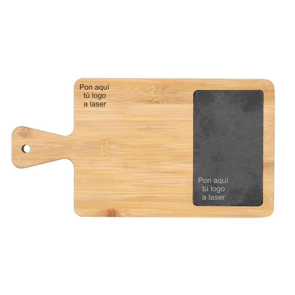 Tabla de madera y pizarra personalizable 34 x 18cm