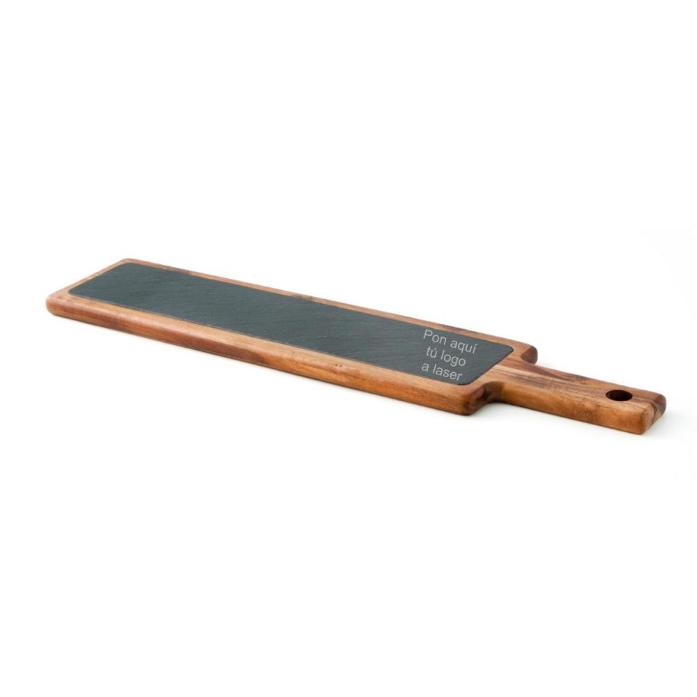 Tabla de madera y pizarra personalizable 55 x 12 x 2cm