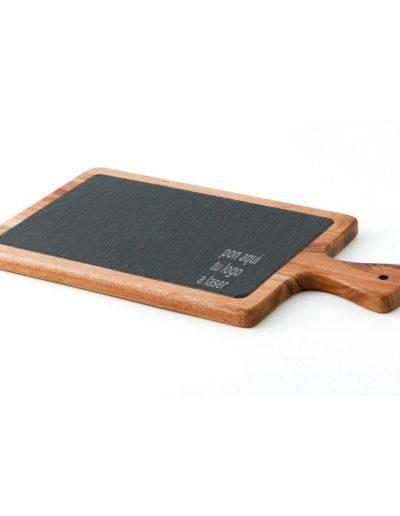 tabla madera pizarra 34x18x15