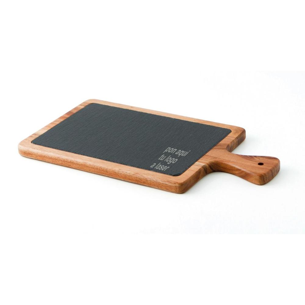 Tabla de madera y pizarra personalizable 34 x 18 x 15cm